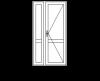 Одностворчатая дверь с глухой частью