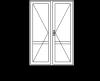Двустворчатая пластиковая дверь
