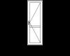 Одностворчатая пластиковая дверь