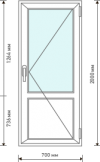 Межкомнатная дверь со стеклом