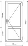 Межкомнатная пластиковая дверь Rehau